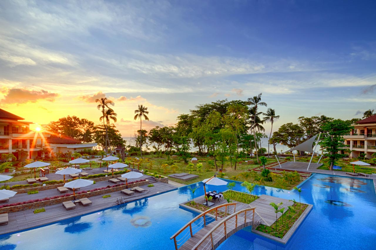 Savoy Seychelles Resort & Spa at sunset