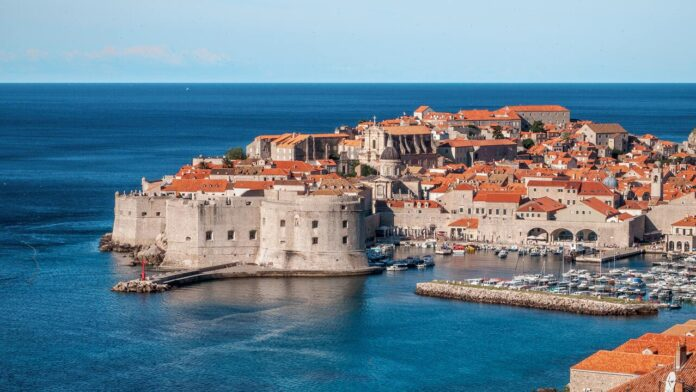 A panoramic view of the old town architecture in Dubrovnik