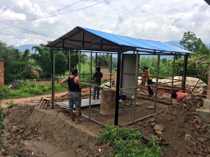 Rebuilding homes in Nepal