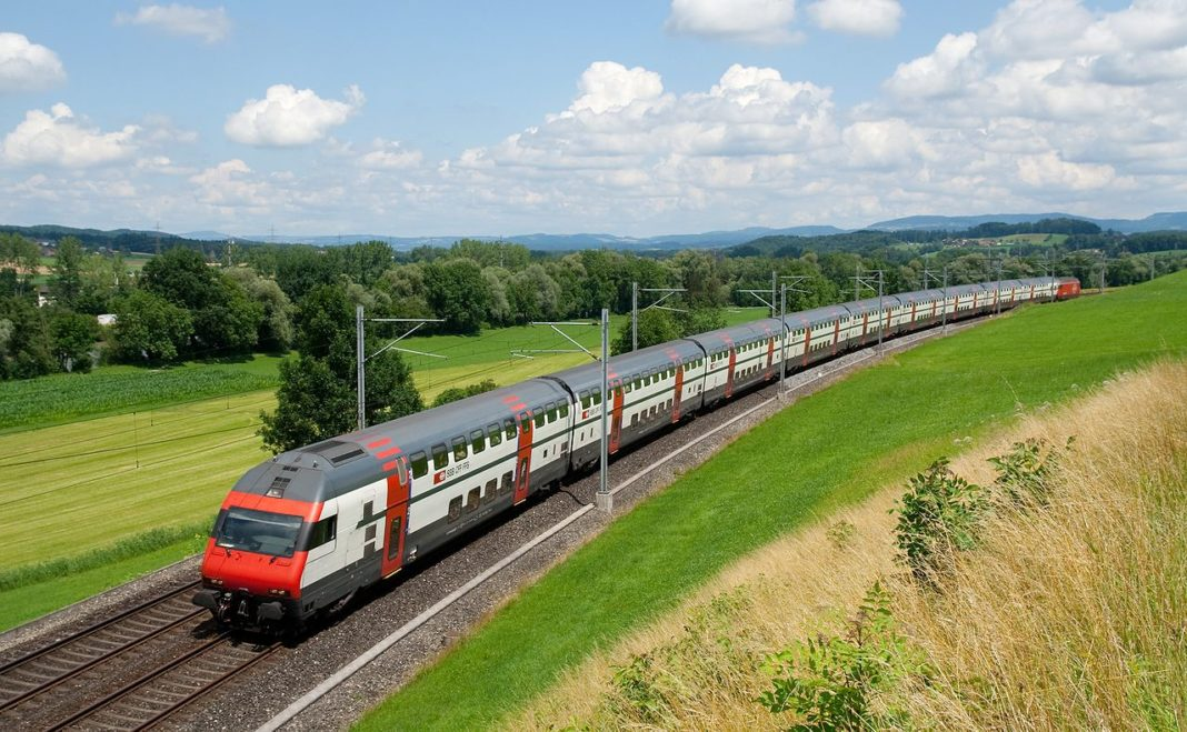 Train travel across Europe