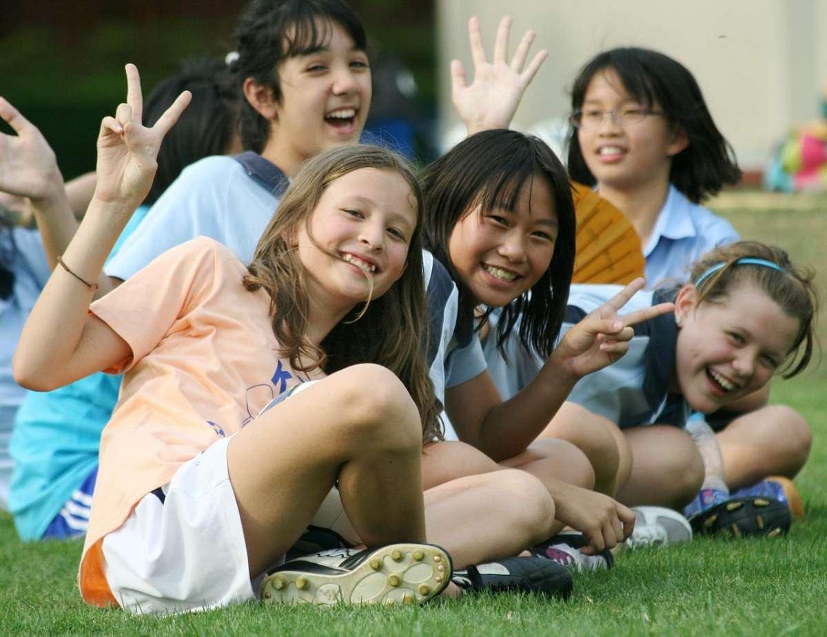 International school children