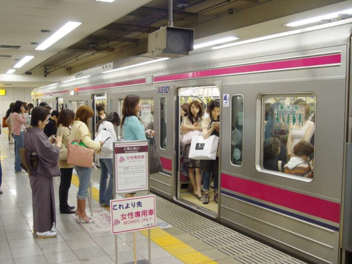 Women only carriages in Japan