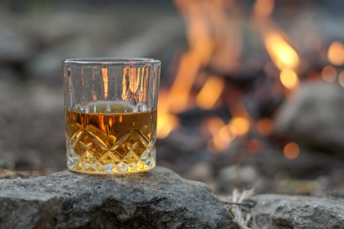 A single malt pour of whisky from the Loch Lomond Distillery
