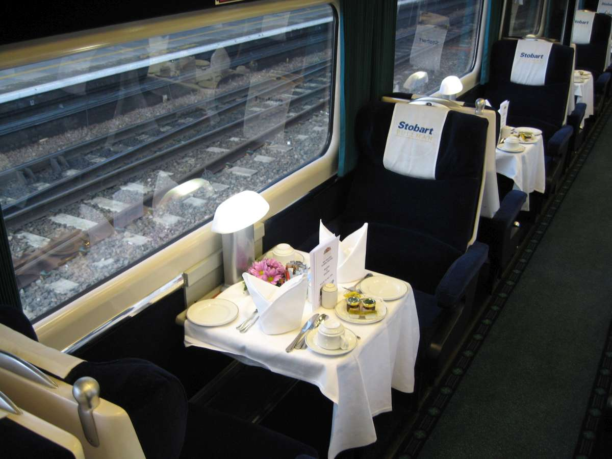 First Class Pullman carriage, laid for breakfast