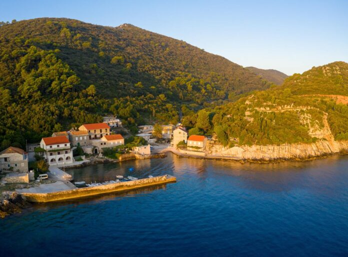 The northwestern part of Mljet Island popular for its saltwater lakes