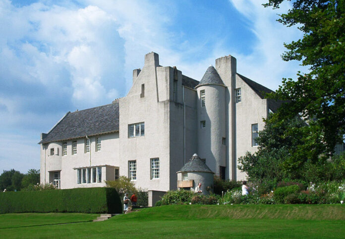 Charles Rennie Mackintosh's small, terraced house in the English midlands