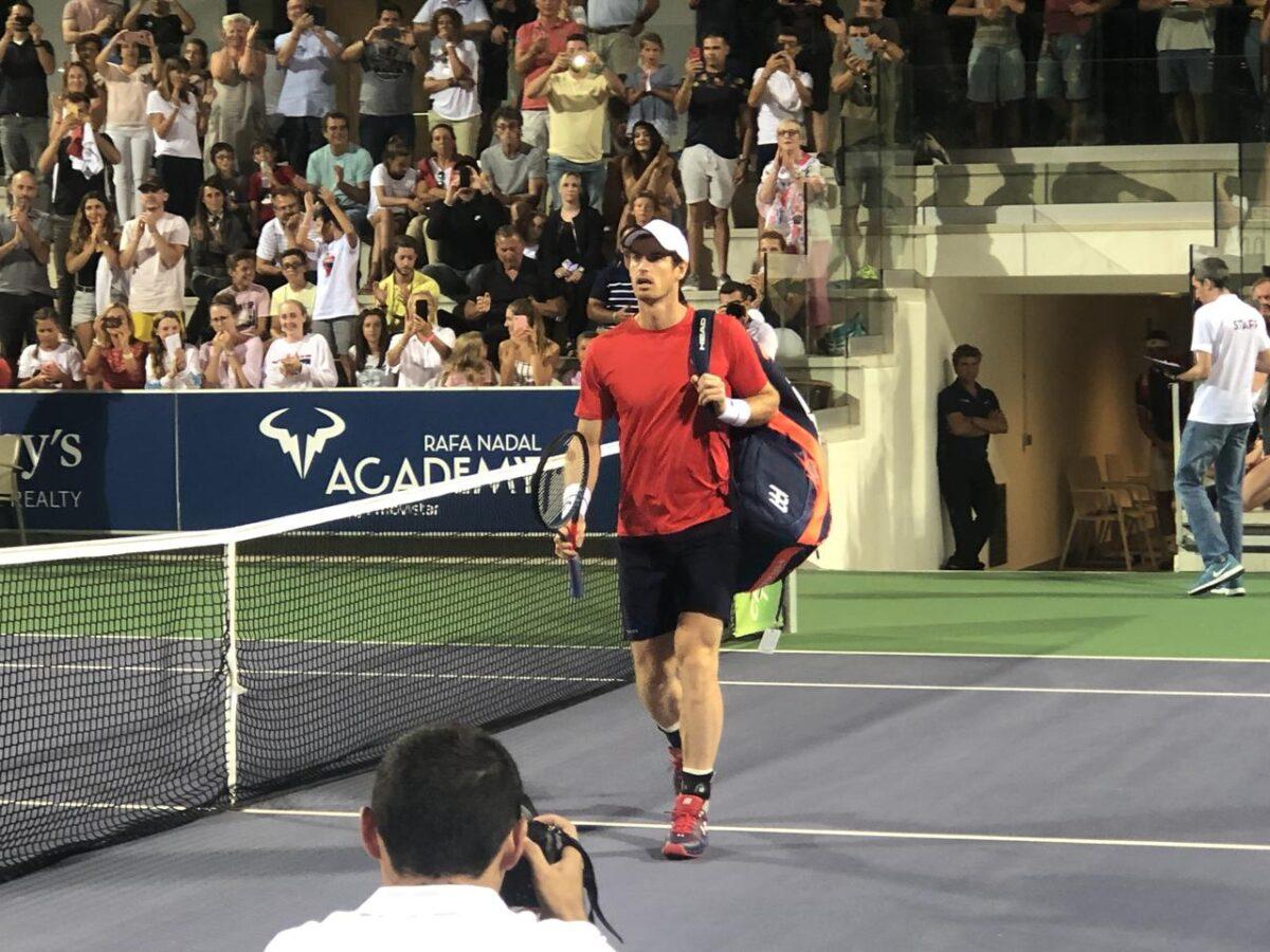 Andy Murray at Rafal Nadal Academy
