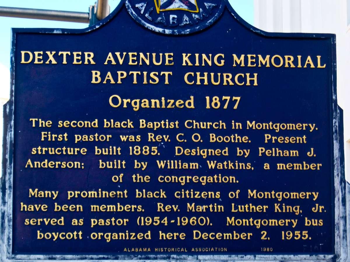 Alabama - Dexter Ave Baptist Church Sign