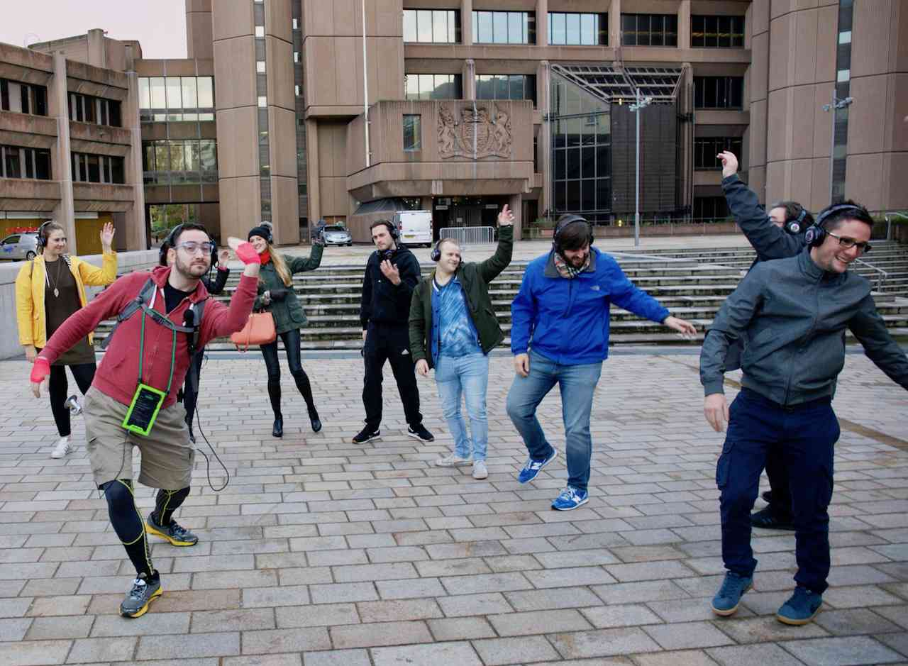 Alan teaching us some classic dance moves at Derby Square