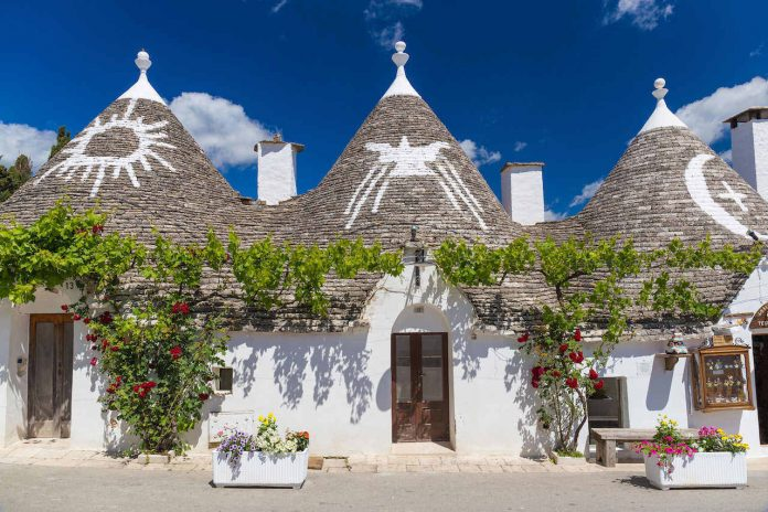 Alberobello with trulli houses