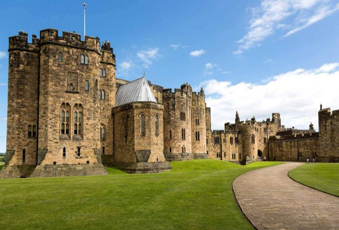 Alnwick Castle appears in Harry Potter and the Chamber of Secrets