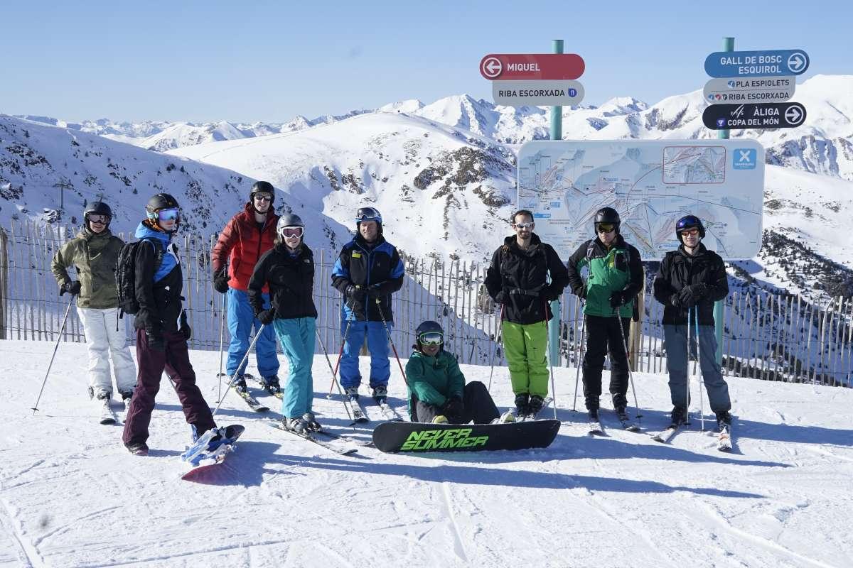 Andorra skiers