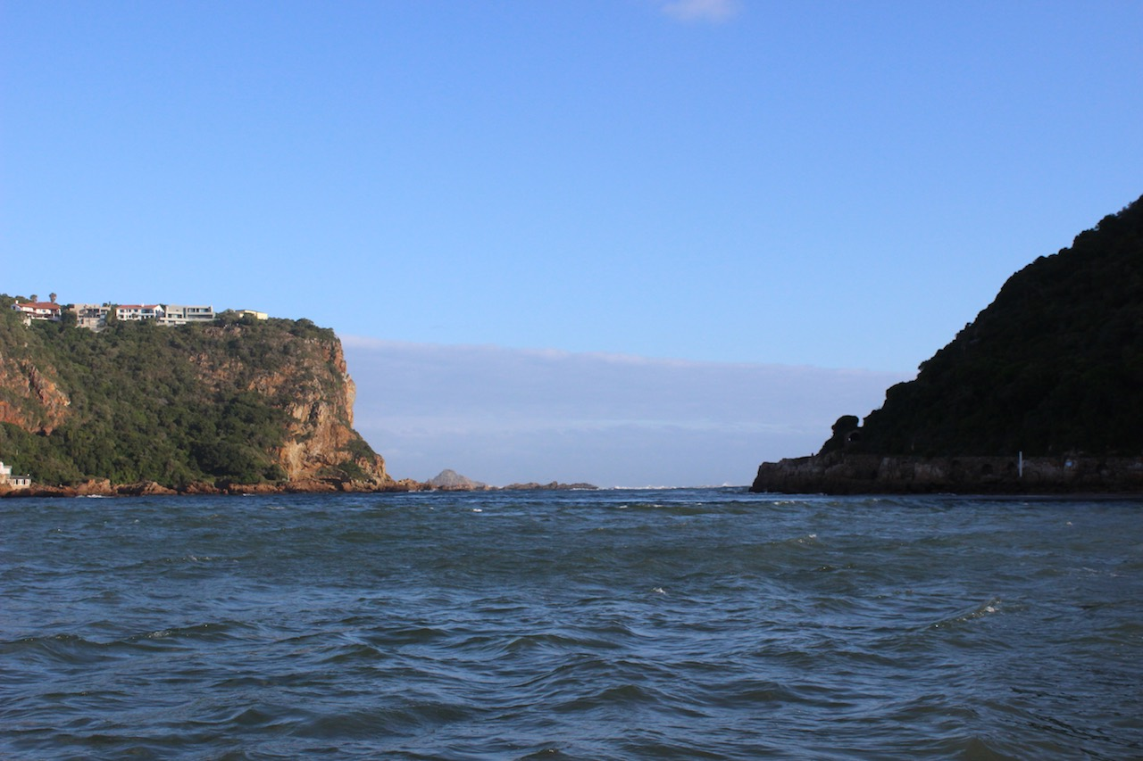 Approaching the notorious Knysna Heads