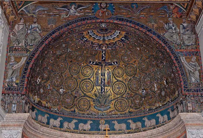 Apsis mosaic in the Basilica of San Clemente Rome