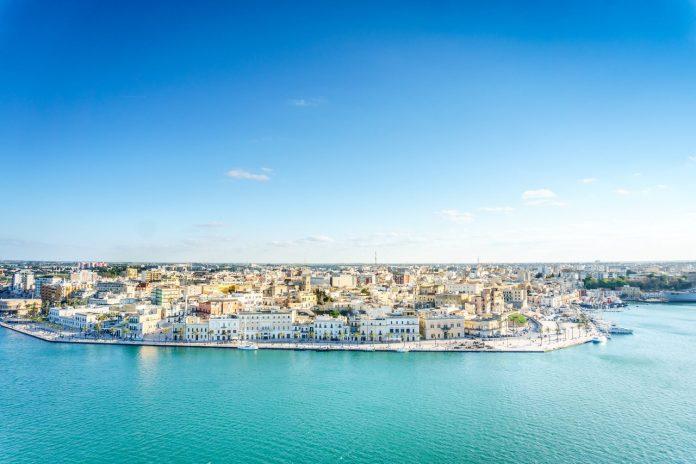 Aerial panorama of Brindisi, Puglia, Italy