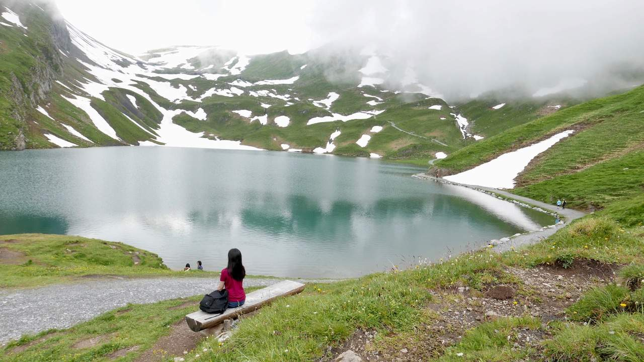 View of Bachalpsee Lake