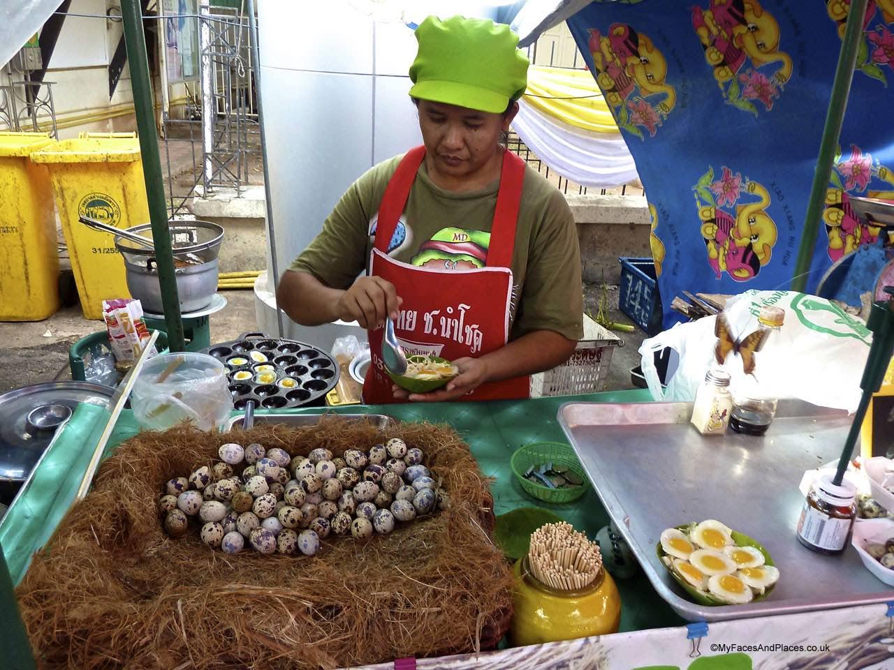 Bangkok - market, quail eggs