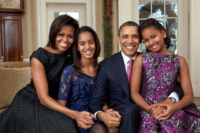 Barack Obama family portrait