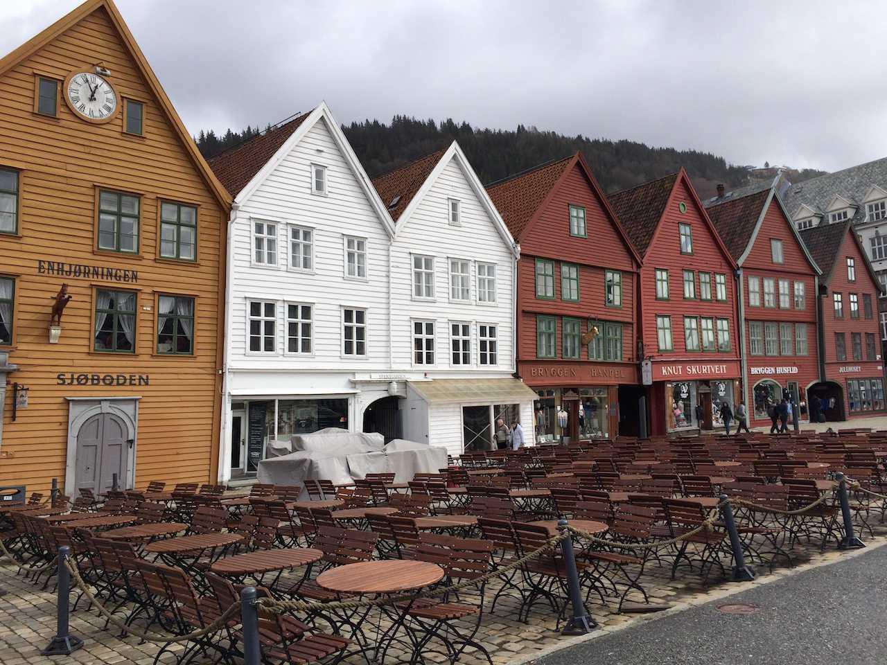 Bryggen harbour, Bergen