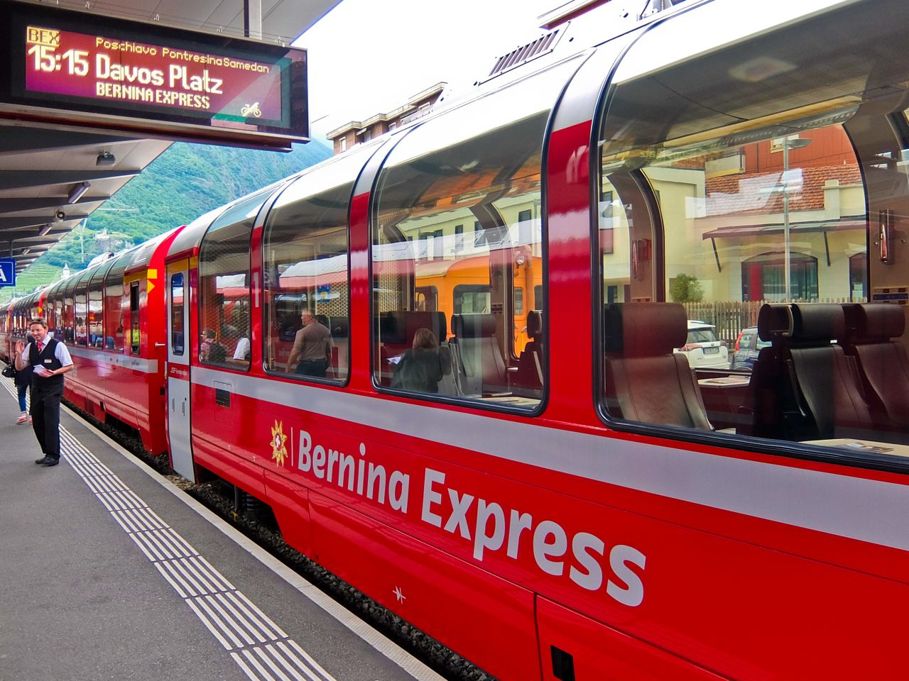 Bernina Express Train in Tirano