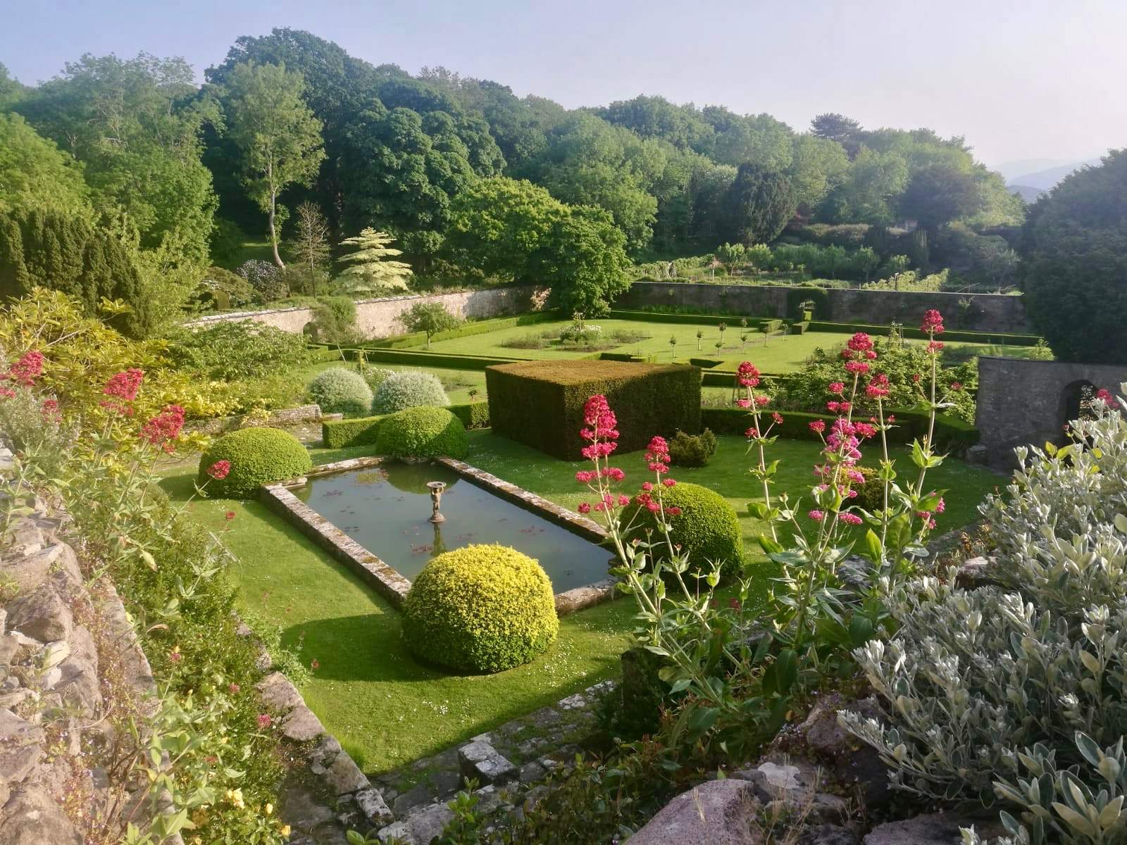 View of the gardens at Bodysgallen Hall