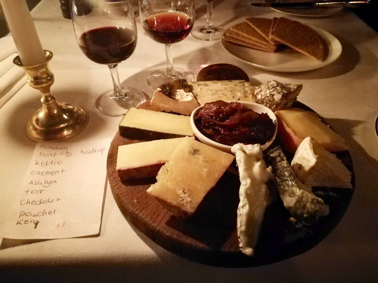 Boisdale of Mayfair cheese board