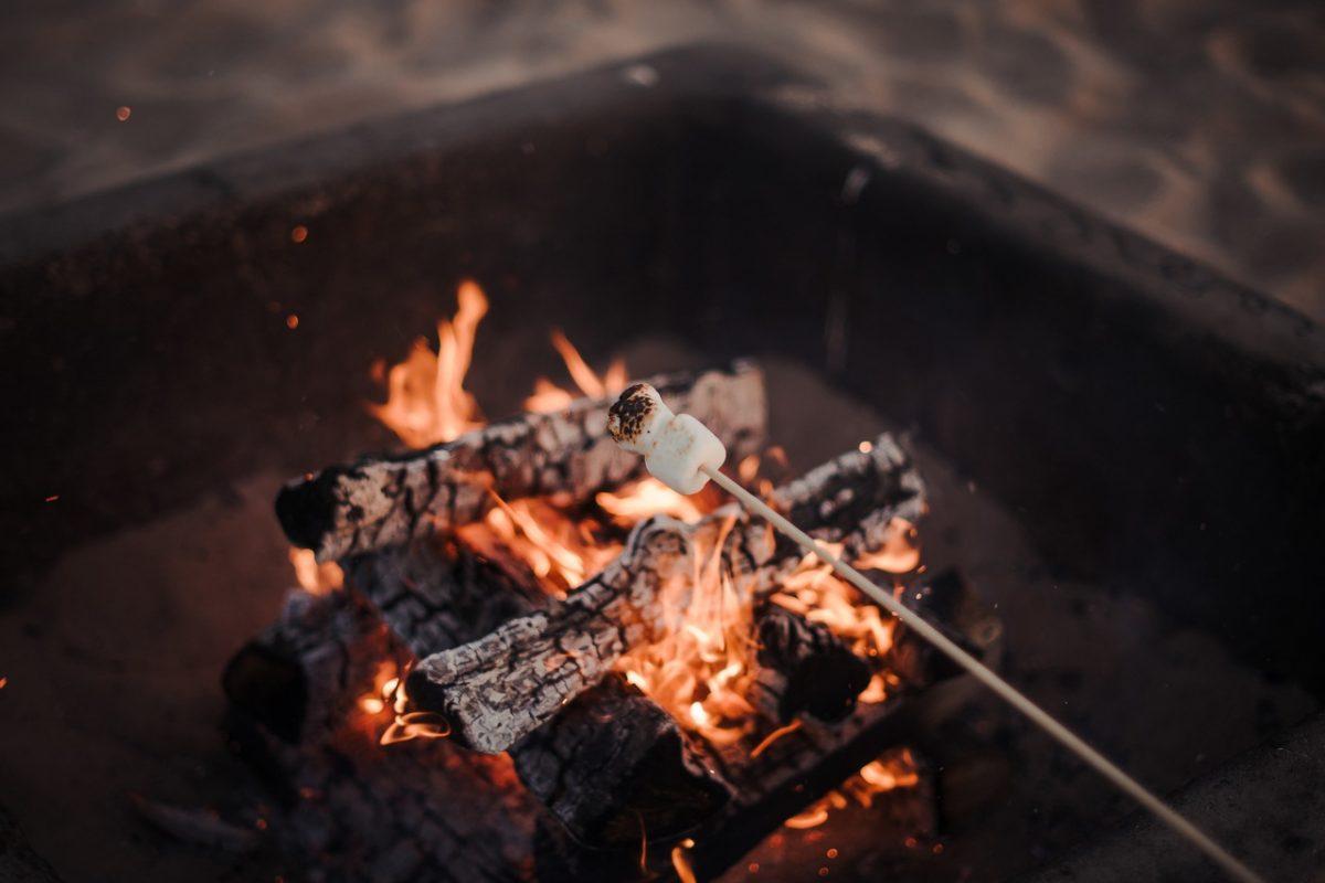 Bonfire on Huntington Beach