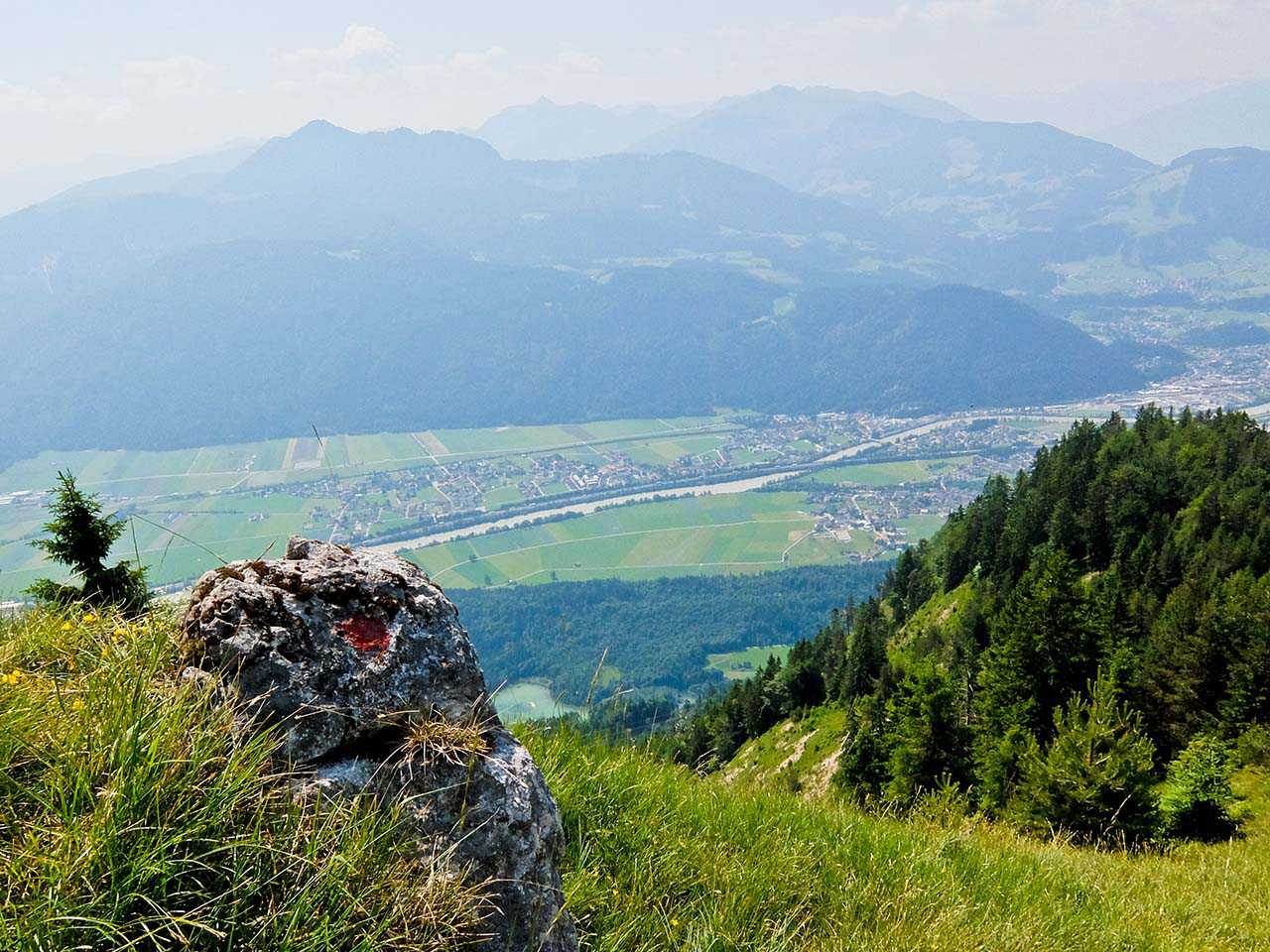 Brandenberg Alps, Tyrol - Kramsach and River Inn