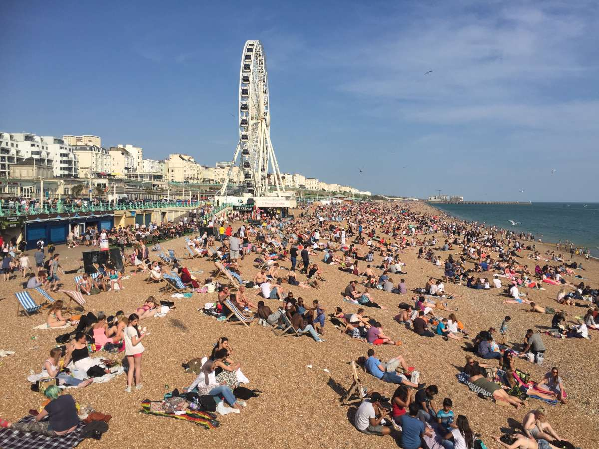 Brighton pebble beach