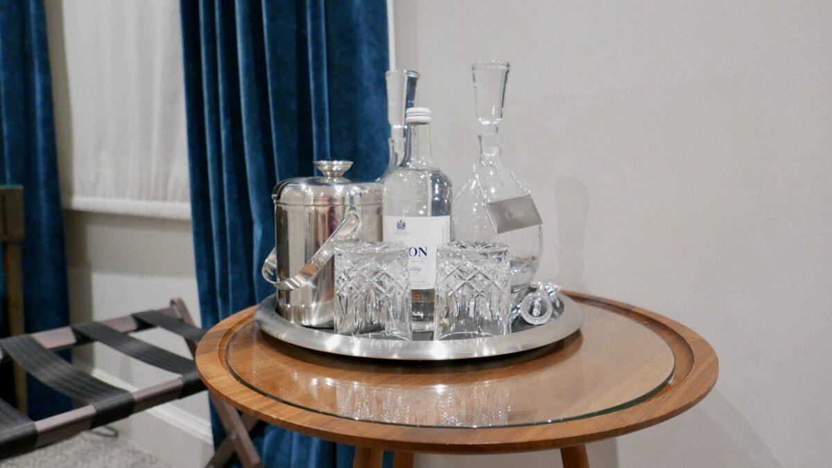 Bristol Harbour Hotel decanters