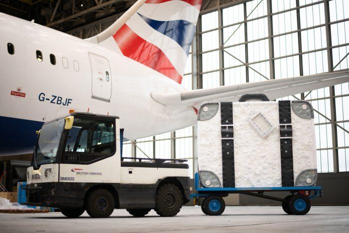 British Airways suitcase artwork
