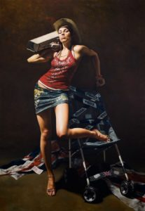 Brittania by Mitch Griffiths hanging at Althorp