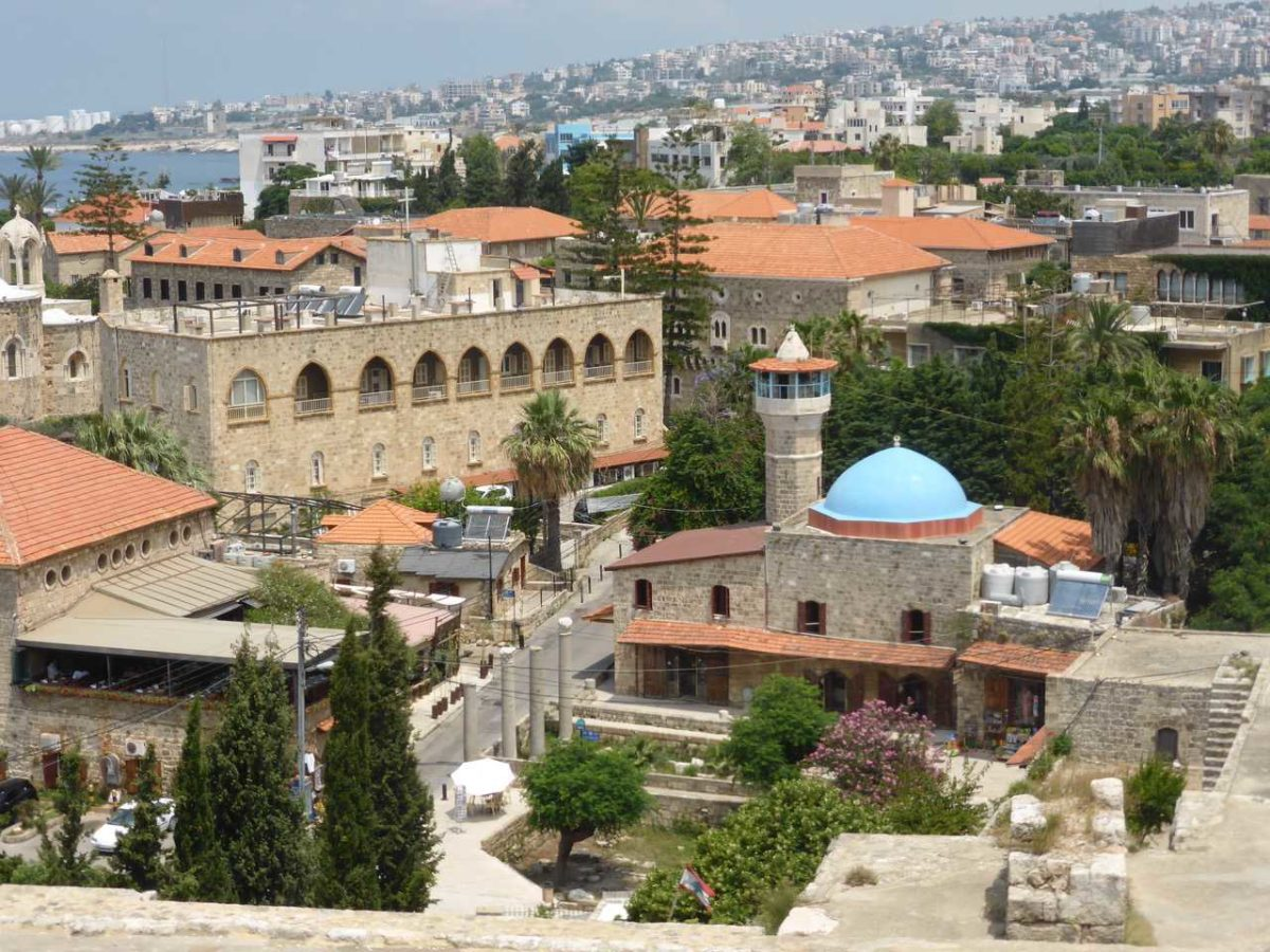 Byblos seen from the castle, Beirut
