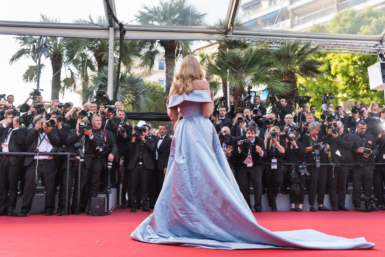 Cannes Film Festival - actress in front of photographers