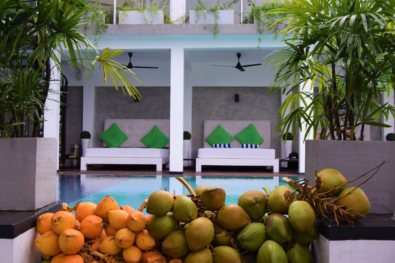 Cantaloupe Levels pool relaxation area