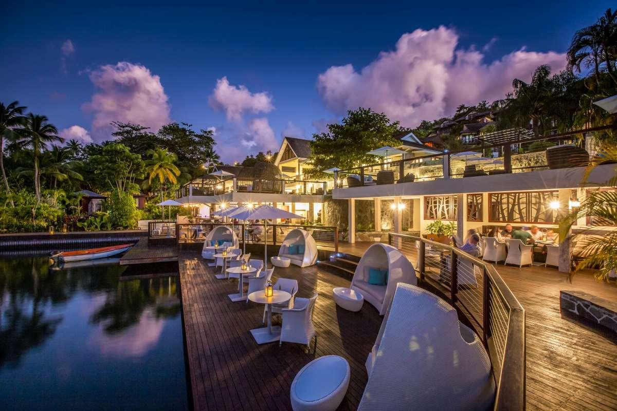 Capella Marigot Bay exterior dining