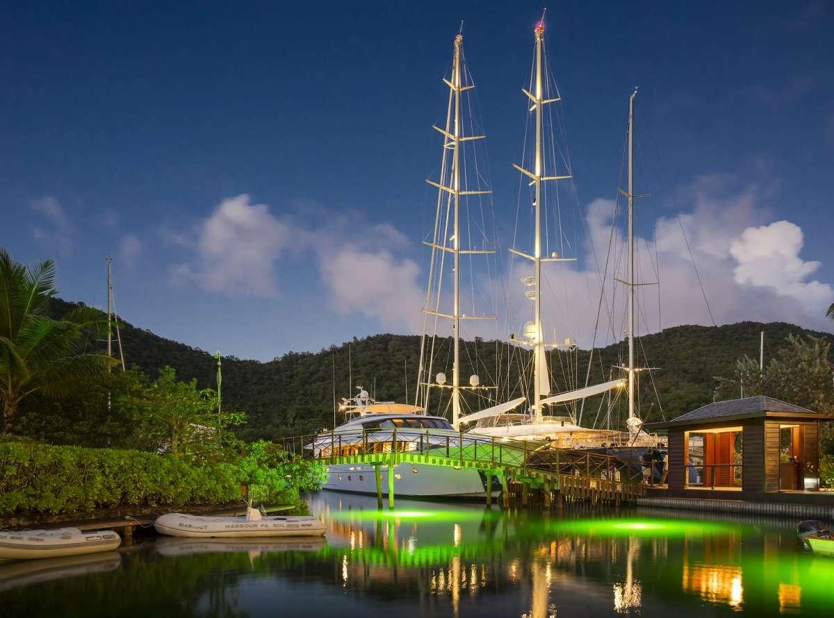 The Capella Marigot Bay marina