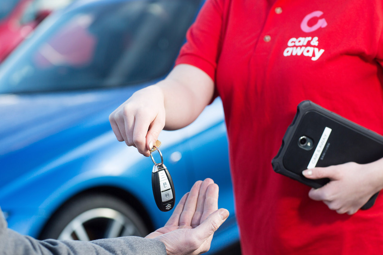Car and Away - handing over keys