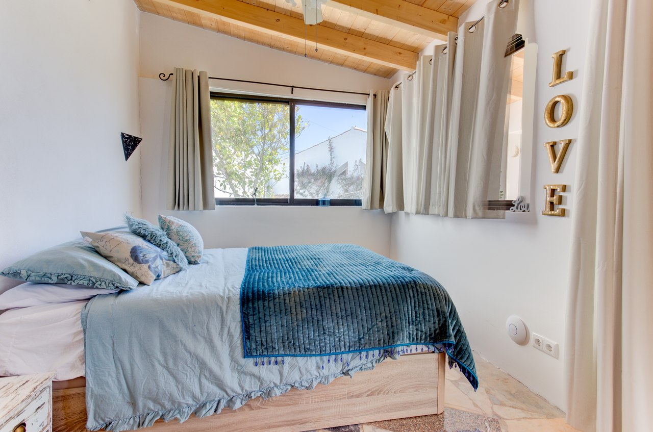 Bedroom in a self-contained cottage