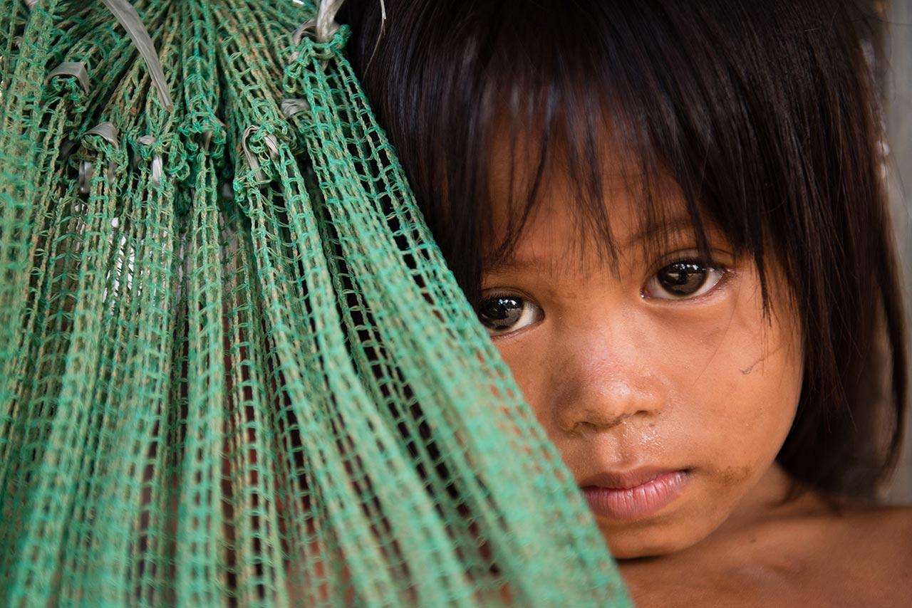 Little girl in Chak Khlanh Village – Prey Veng Province