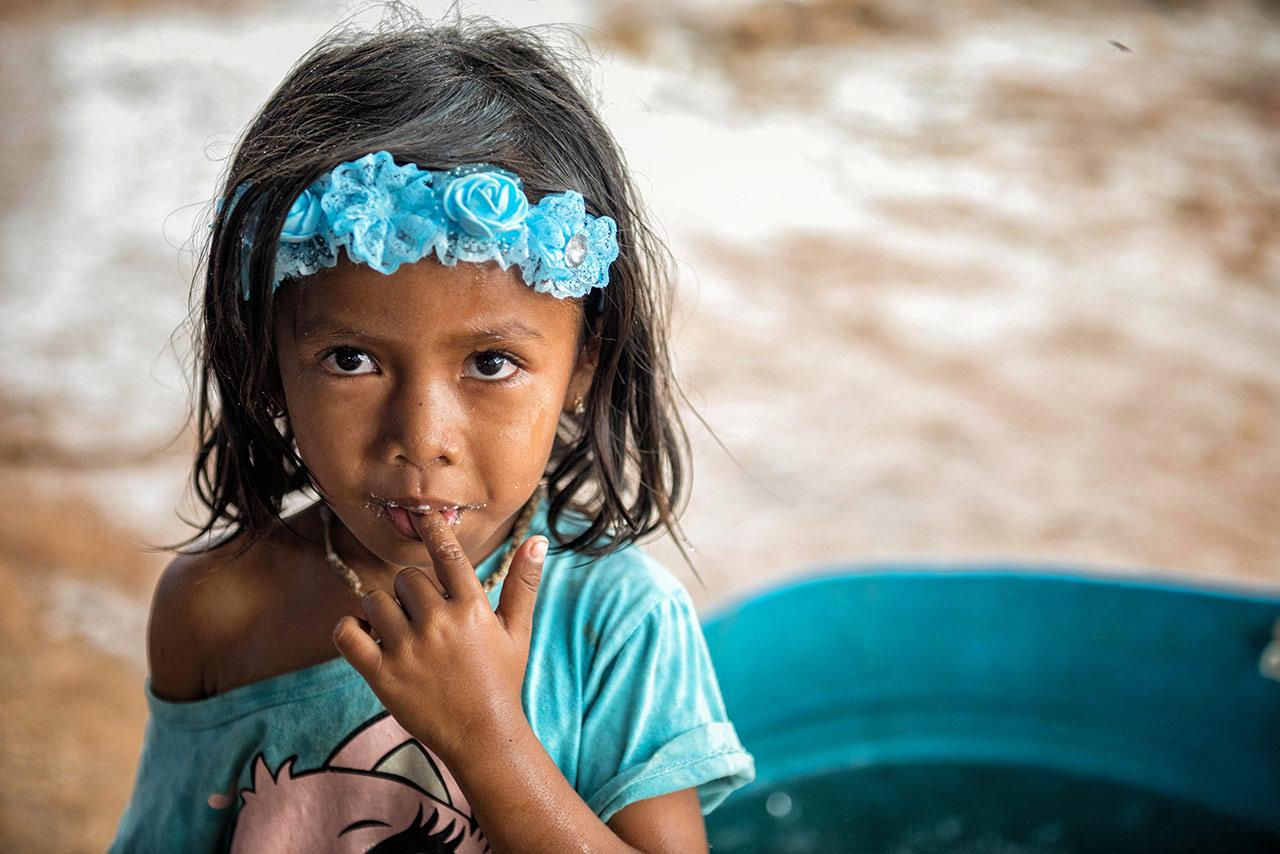 Little girl in Kro Kor Town