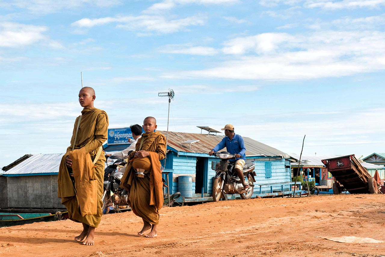Monks in Kro Kor Town