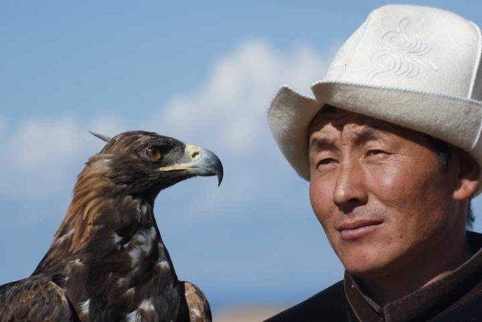 Central Asia - Eagle hunter in Kyrgyzstan