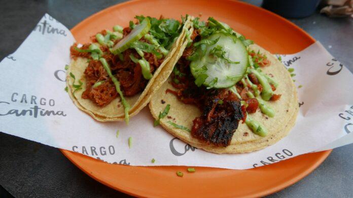 Chicken tacos at Cargo Cantina