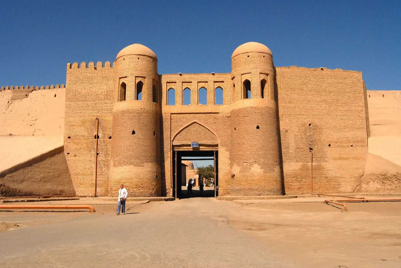 City gates of the Ichan Qala in Khiva, Uzbekistan