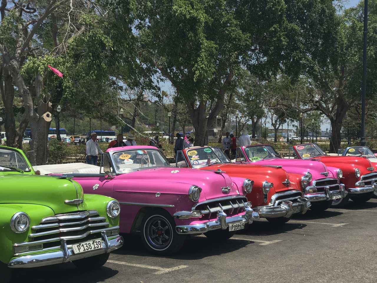 Colourful classic cars