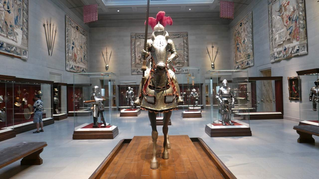 Suits of armour at Cleveland Museum of Art