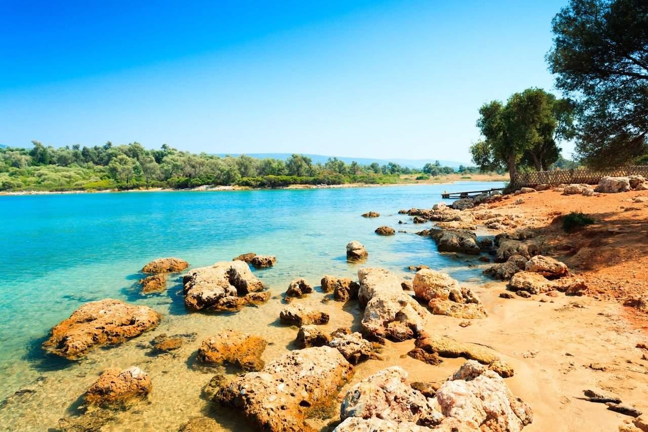 Coastal landscape on Cleopatra