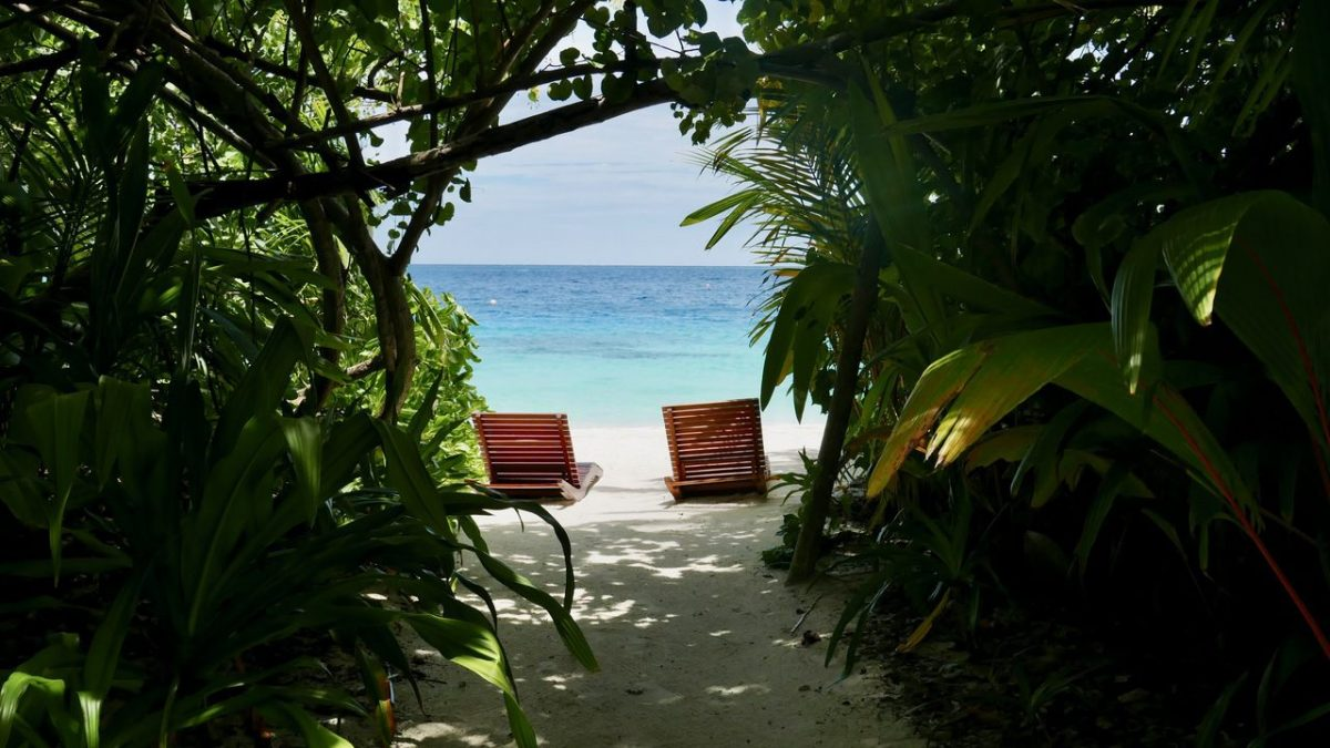 Coco Bodu Hithi Island Villa private beach entrance