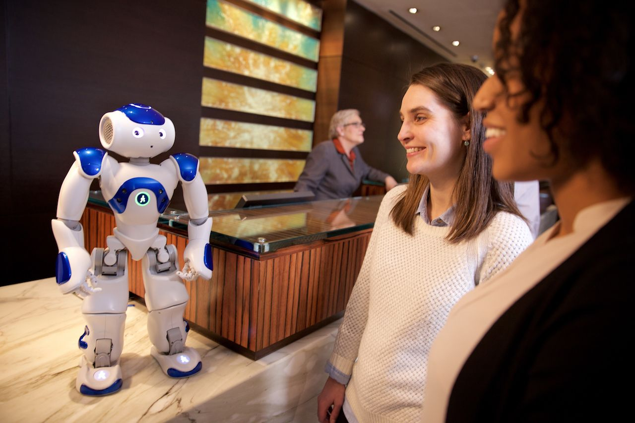 Connie: robot concierge at Hilton Hilton McLean in Virginia, USA